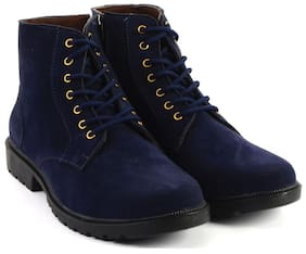 MOZOORO BOOT IN SEUDE BLUE