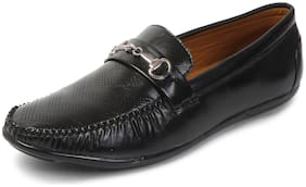 MUTAQINOTI Men Black Loafers