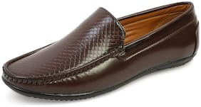MUTAQINOTI Men Brown Loafers