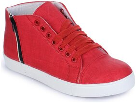 Naisha Women Red Sneakers
