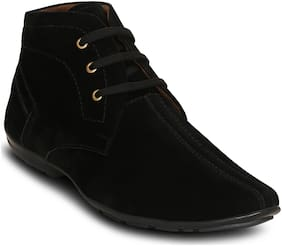Get Glamr Men's Black Ankle Boots