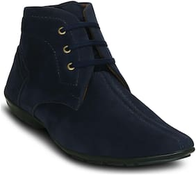 Get Glamr Men's Blue Ankle Boots
