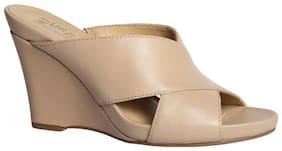 Naturalizer Women Beige Heeled Sandals