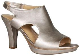 Naturalizer Women Silver Peep toes