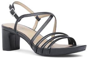 Naturalizer Women Black Heeled Sandals