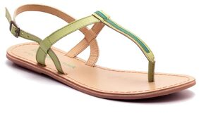 Naughty Walk Womens Green Flats