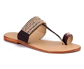 Naughty Walk Womens Brown Flats