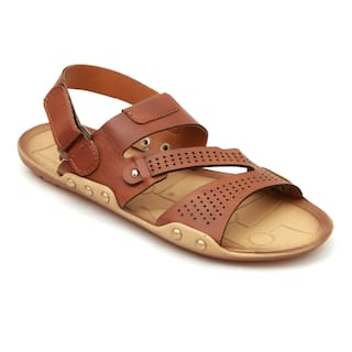 6de1210a4 Buy Nexa Men s Tan Sandals Online at Low Prices in India - Paytmmall.com
