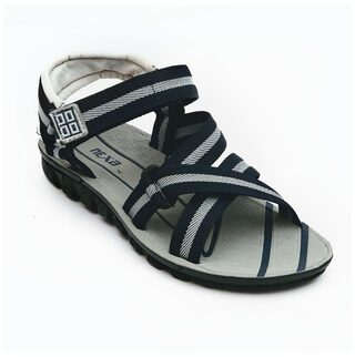 Nexa Men Grey Sandals & Floaters