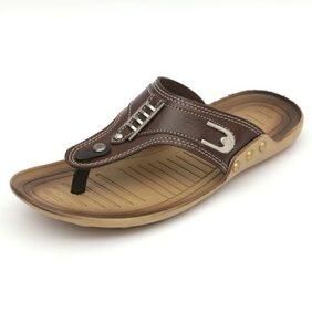 Nexa Shot Designer Brown Slippers