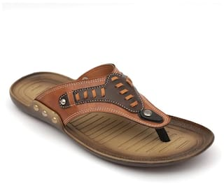 709116154b2f Buy Nexa Men Tan Outdoor Slippers Online at Low Prices in India ...