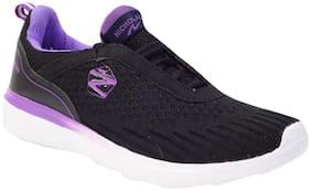 Nicholas Women Walking Shoes ( Black & Purple )