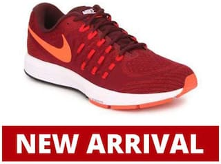 reputable site 4b198 594c3 Nike Men's Air Zoom Vomero 11 Maroon Running Shoes for Men ...