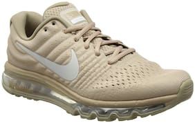 Nike Beige Mesh Low Ankle Casual Running Shoes For Men(AIR MAX 2017)