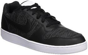 Nike Black Mesh Low Ankle Casual Basketball Shoes For Men(Ebernon Low Prem)