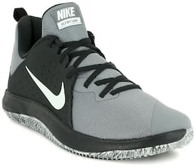 Nike Grey Mesh Low Ankle Casual Basketball Shoes For Men(Fly By Low)