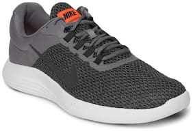 Nike Grey Mesh Low Ankle Casual Running Shoes For Men(LunarConverge 2)