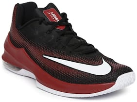 Nike Men's Air Max Infuriate Low Black Basketball Shoes