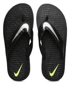 Nike Men Black Flip-Flops -