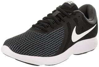 Nike REVOLUTION Running Shoes For Men(Black )