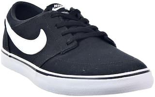 Nike Men's SB Solarsoft Portmore II Canvas Black Sneaker Shoes