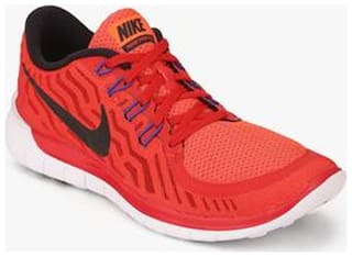 quality design 746b0 37837 Nike Mens Free 5.0 Red Running Shoes for Men - Buy Nike ...