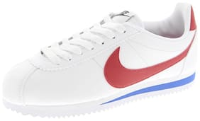 Nike Women's Classic Cortez Leather White Running Shoes