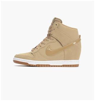 Buy Nike Women s Dunk Sky HI Essential Brown Sneakers Online at Low ... d7fdb75745bc