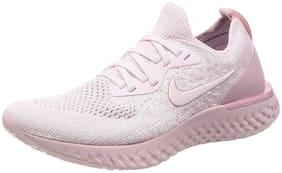 Nike Women Epic React Flyknit Running Shoes ( Pink )
