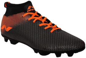 Nivia Men Pro Carbonite Football Shoes ( Black & Orange )