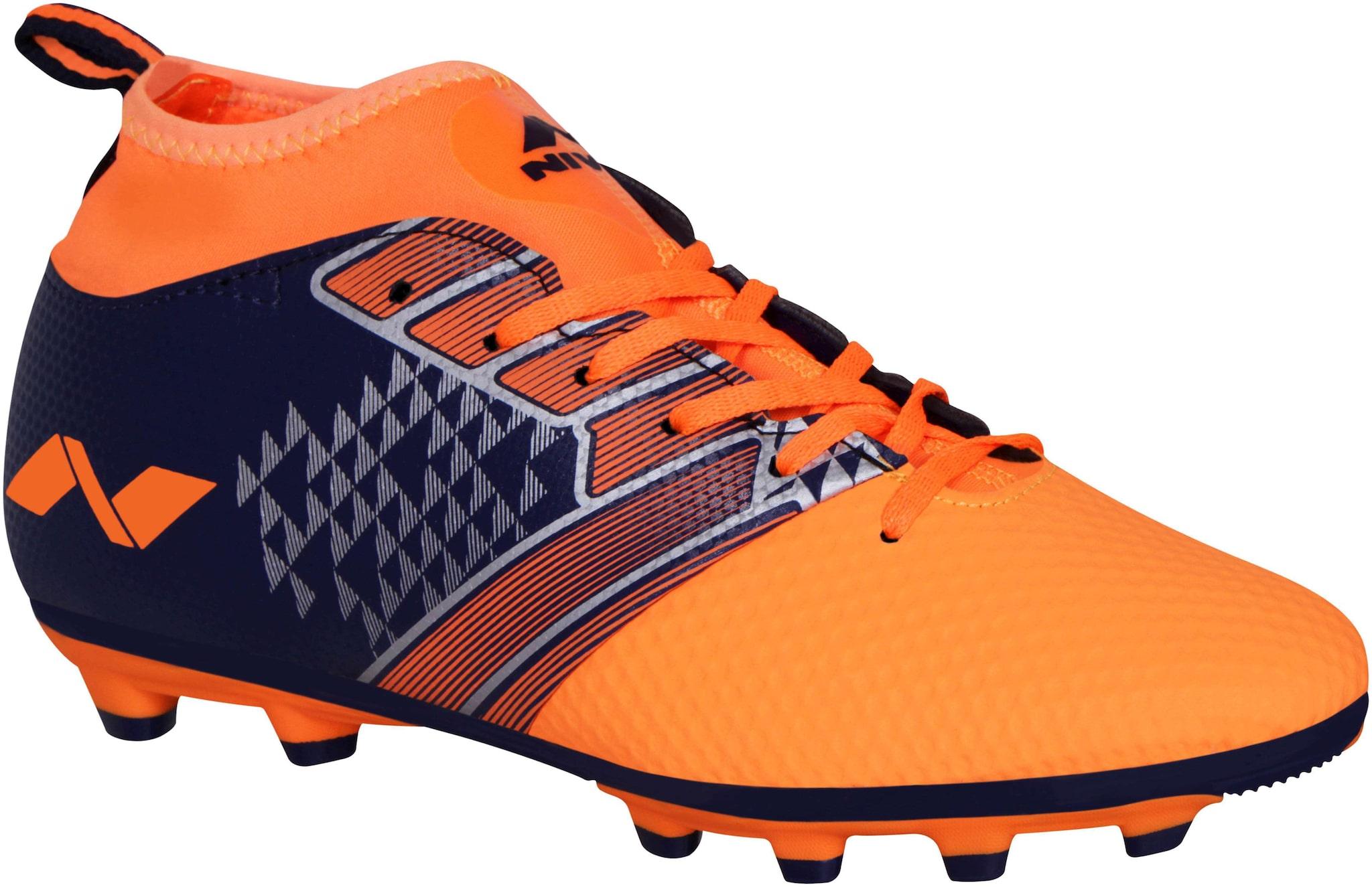 Nivia Men Football Shoes   Orange