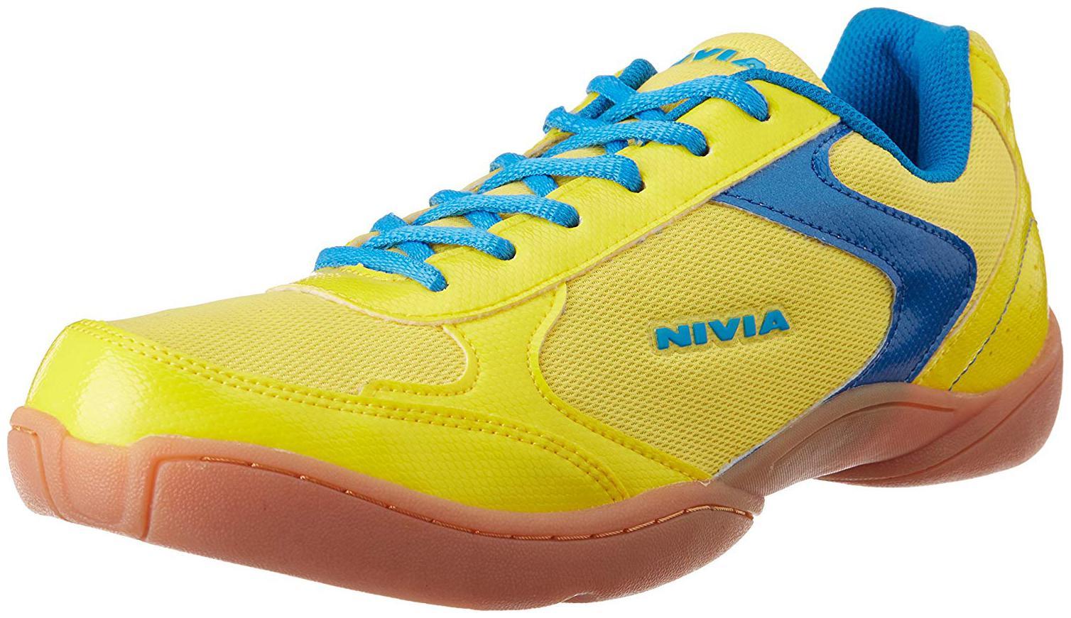 Nivia Men Non Marking Badminton/Squash Shoes  Yellow