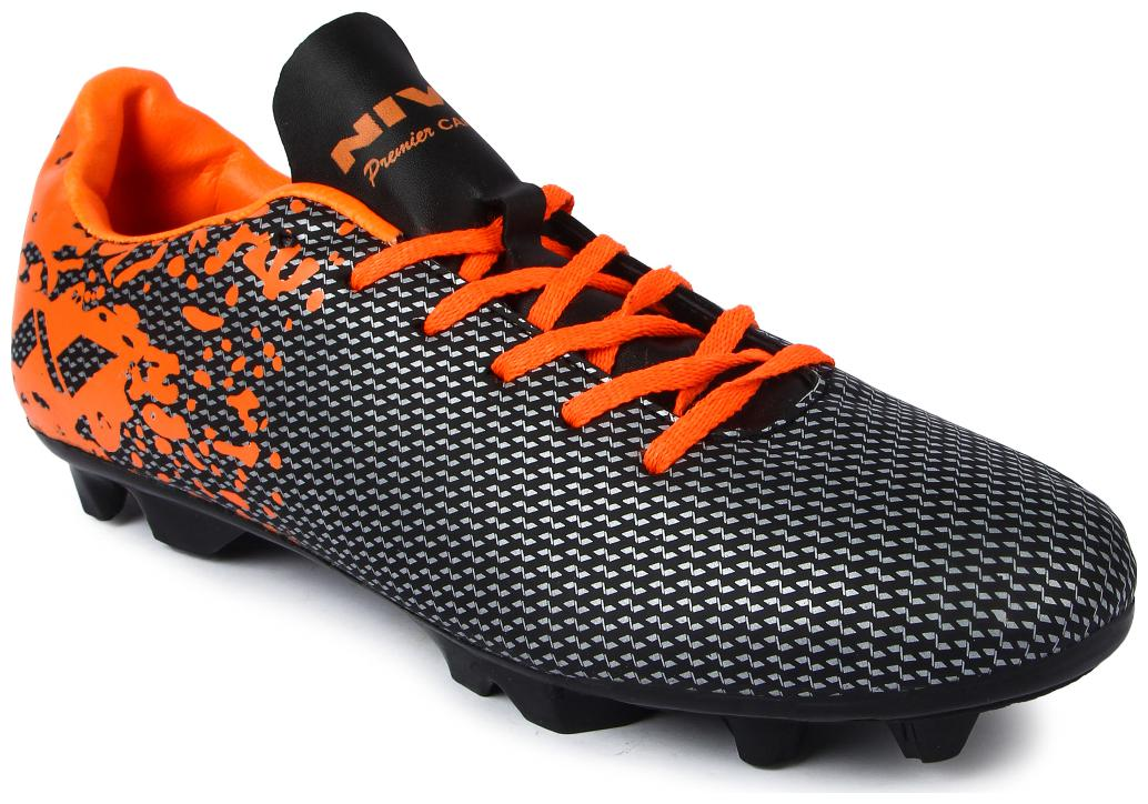 Nivia Men Football Shoes   Orange