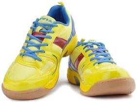 Nivia Men Non Marking Badminton/Squash Shoes (Yellow)