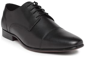 Noble Curve Leather Oxford Shoe with Toe Cap