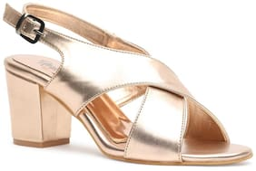 Nupie Women Gold Sandals