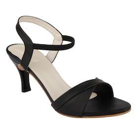 ORYSTA Women Black Sandals