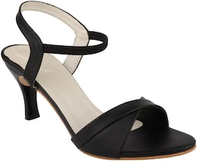 ORYSTA Women Black Sandals