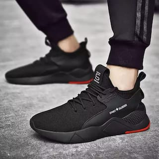 Ovexa Eligant Black Stylish Casual Shoe For Boys And Men