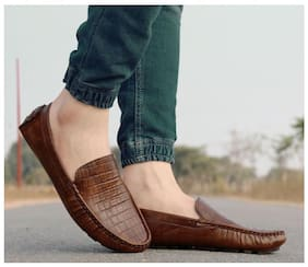 Ovexa Men Brown Loafers