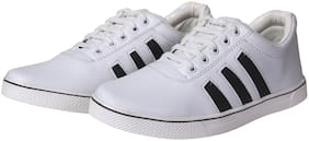 Ovexa Stylish White Color Canvas Shoe For Men And Boys