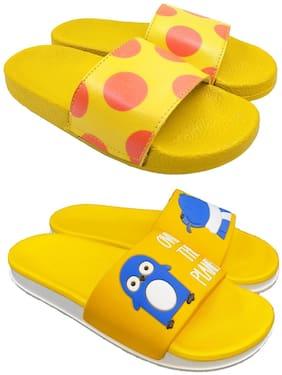 Women Flip Flops ( Yellow )