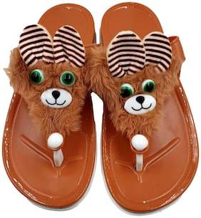 Women Flip Flops ( Brown )