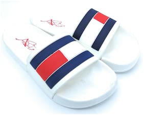 Pampys Angel Men White Sliders
