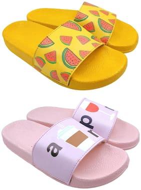 Women Flip Flops ( Multi-Color )