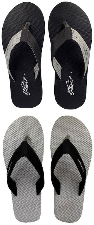 Pampys Angel Flip-Flops For Men ( Multi ) 2 Pairs