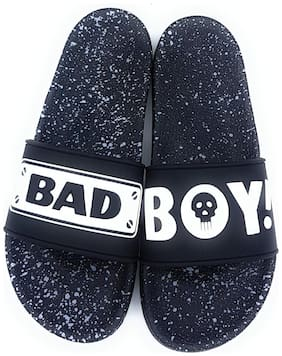 Pampys Angel Men Black Sliders