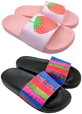 Women Flip Flops ( Pink )