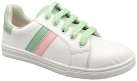 Women Solid Sneakers ( Green;White )