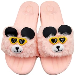 Pampys Angel Flip Flops For Women ( Pink )